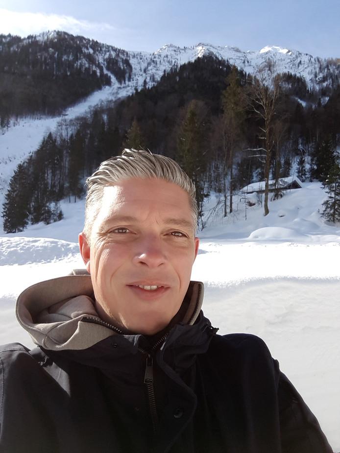 Walter van Zoeren, sportverslaggever tijdens het WK afstanden in Inzell