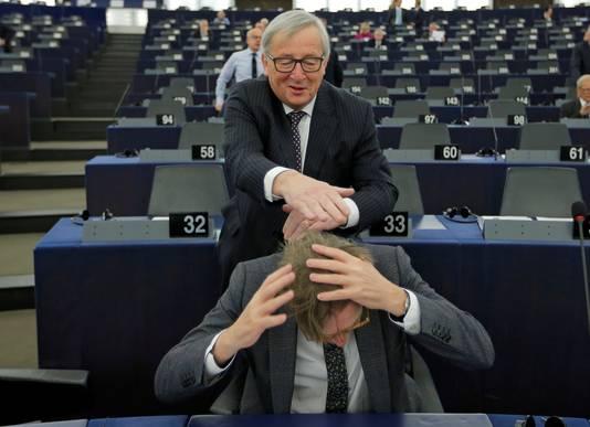 Avec Guy Verhofstadt, en février à Strasbourg