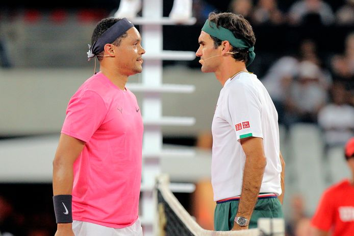 Trevor Noah en Roger Federer.