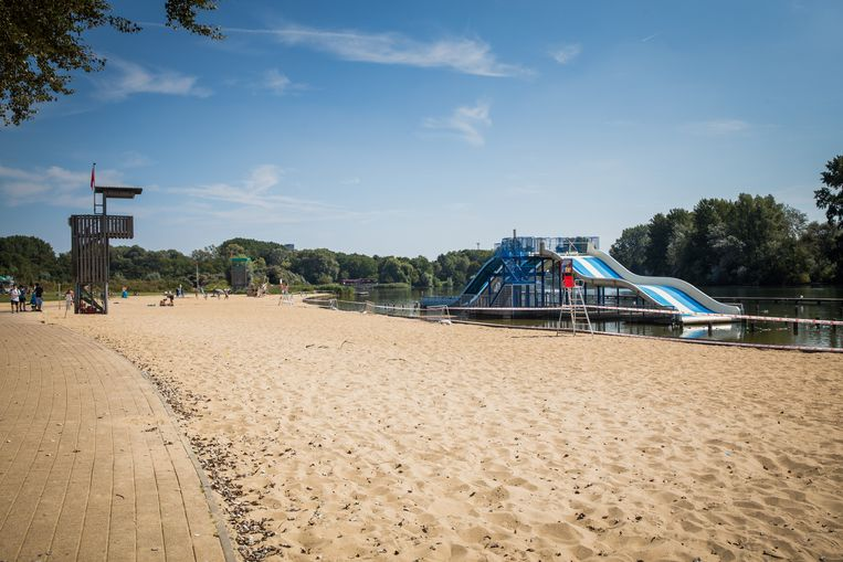 Lege stranden dit weekend op de Blaarmeersen.