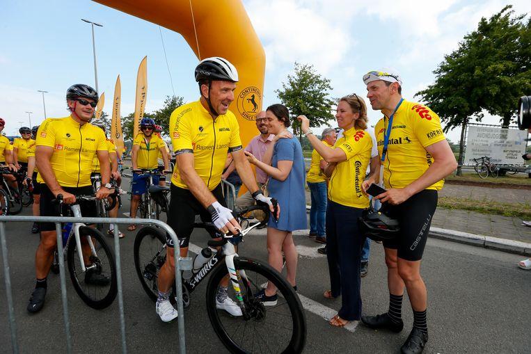 Ook voormalig wielrenner Johan Museeuw was van de partij.