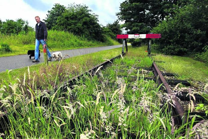 Een restant van de Halvezolenspoorlijn bij Sprang-Capelle.