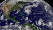 Norma opnieuw afgezwakt tot tropische storm