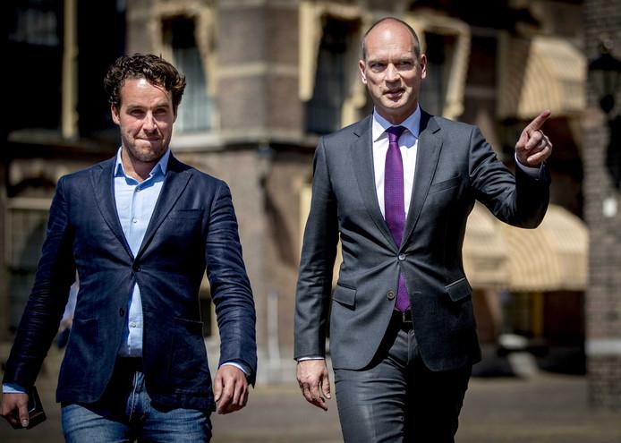 Gert Jan Segers (CU) arriveert op het Binnenhof voor een gesprek met informateur Edith Schippers.