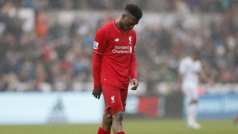 Teleurstelling bij Liverpool na de nederlaag tegen Swansea City. Beeld null