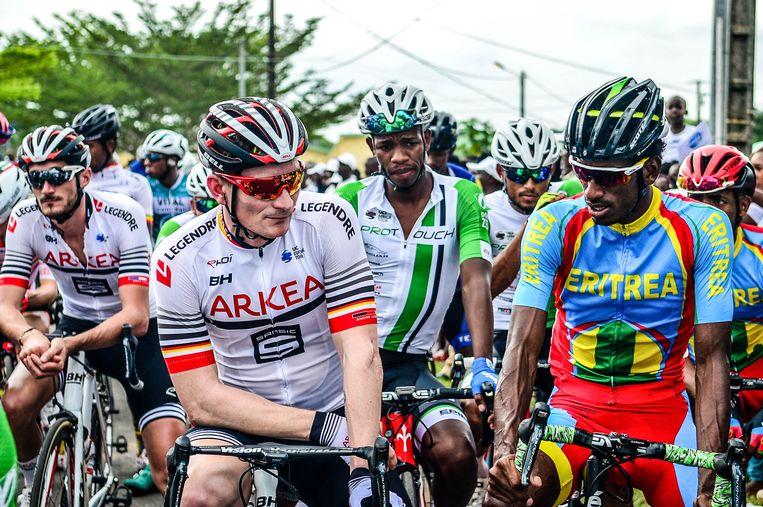 Andre Greipel rijdt voor Team Arkéa-Samsic in Gabon.