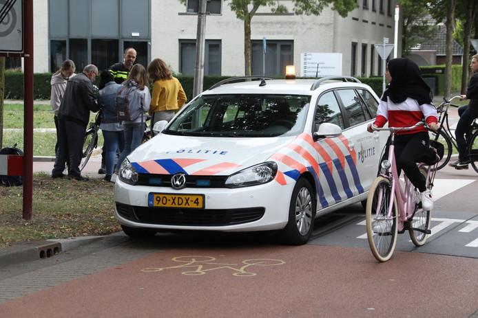 Eerder deze week raakte een jonge fietsster gewond op het kruispunt.