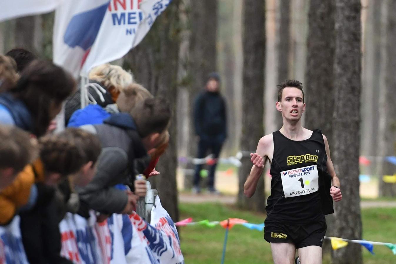 Danny Koppelman, de winnaar van 2019, kan zijn titel in de Zandenplasloop dit jaar niet verdedigen.