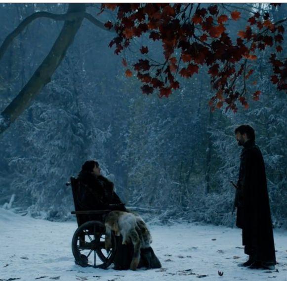 Jaime en Bran hebben éindelijk een gesprek.