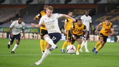 LIVE. City trekt met dubbele voorsprong de rust in na doelpunten De Bruyne en Foden