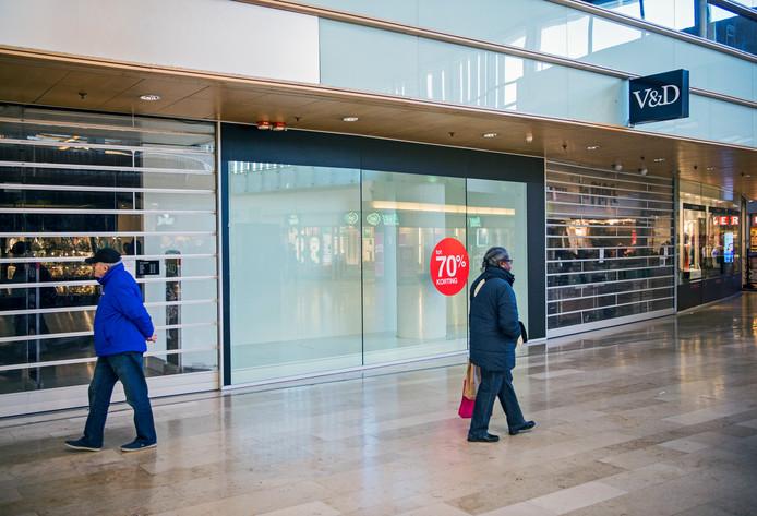 De voormalige V&D in winkelcentrum Zuidplein.