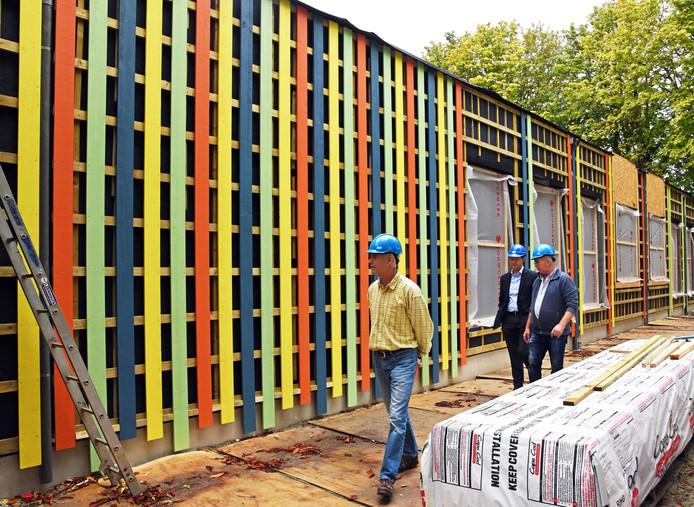 De voortgang van de bouw van het mfc, afgelopen september.