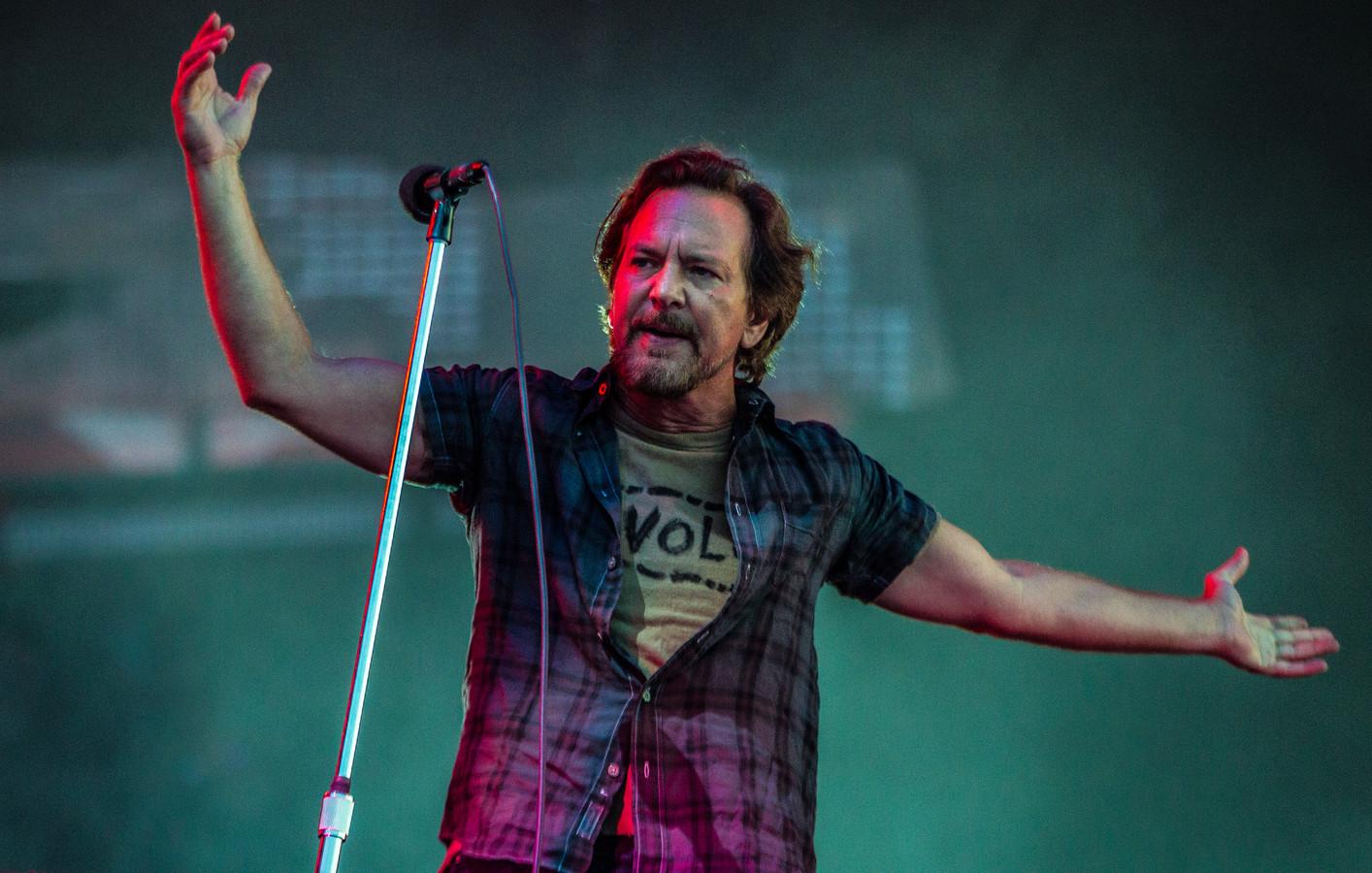 15-6-2018 Landgraaf Pearl Jam-zanger Eddie Vedder.