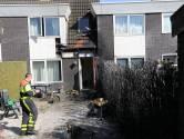 Coniferen in brand in Tilburg, huis beschadigd door vlammen
