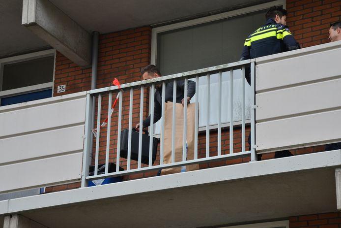 De flat aan de Sandenburgstraat waar Safranti werd doodgeschoten.