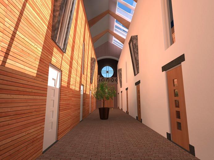 Toekomstig interieur van de kerk van Wijbosch.