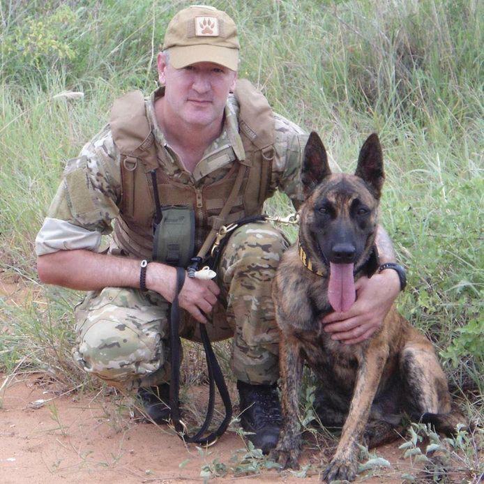 Daryll Pleasants met één van zijn honden.