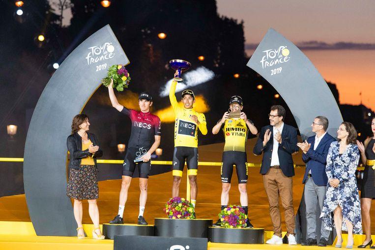 Het Tour-podium.