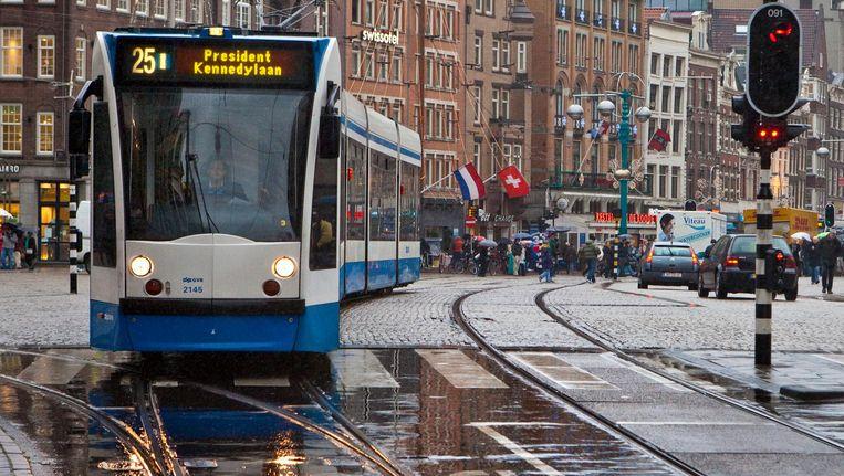 Het verdwijnen van trams tast het Amsterdamse ov-netwerk aan, stelt de Reizigersadviesraad. Tram 25 werd enkele jaren geleden al geschrapt Beeld Floris Lok