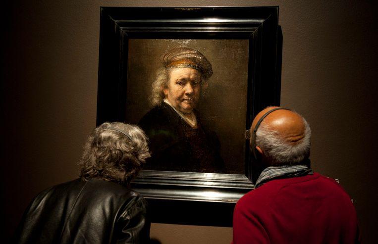 Zelfportret (1669) van Rembrandt.