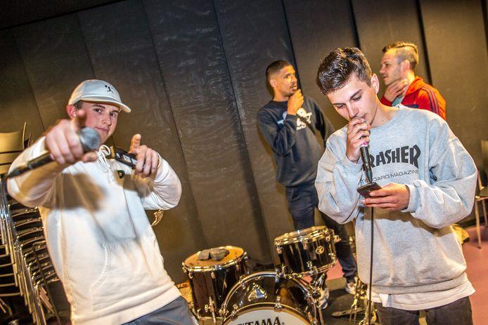 Jongeren van hiphopproject Fakkelteit.