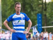 Sander van Looy, oud-verdediger van PEC Zwolle, mag zich laten zien in Oss