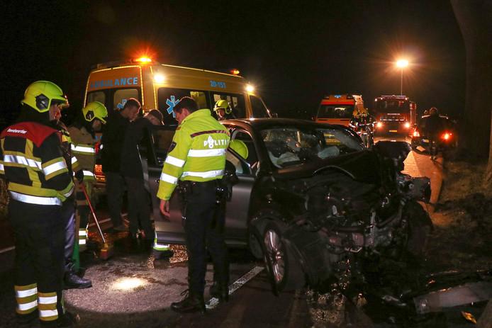 Veel schade en twee gewonden na ongeval Bergsche Maasdijk Bern