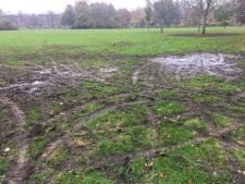 Gemeente doet aangifte van omploegen grasveld Vroesenpark met deelwagentjes