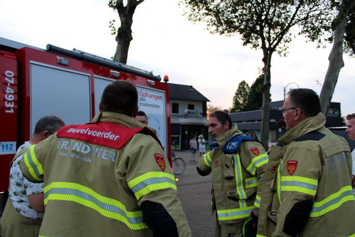 De brandweer in Gendt