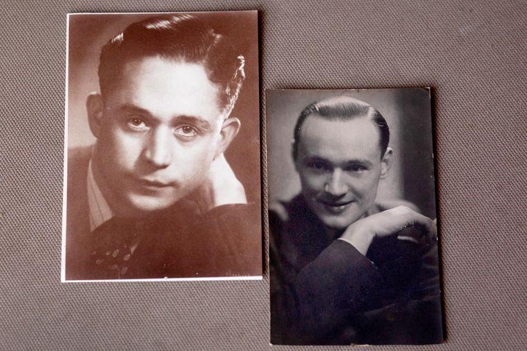 De vader van Edith Geuzebroek (links), Jan Geuzebroek, en zijn vriend Ton Klaasse.   Beeld Maartje Geels