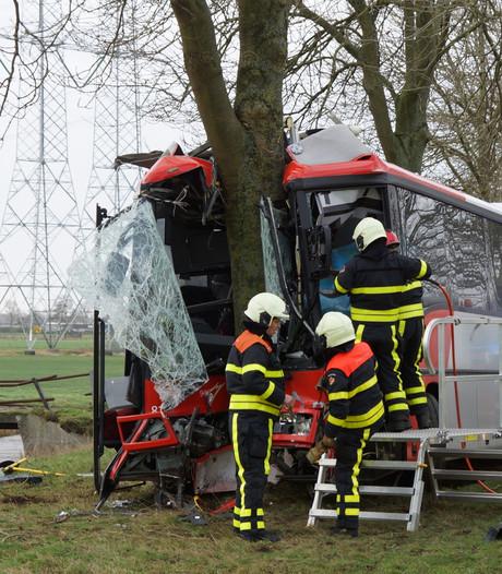 Schoolbus botst op boom: acht kinderen en chauffeur gewond