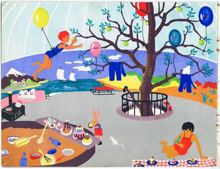 Illustraties uit de kinderboeken van Jaap Kloots en Galinka Ehrenfest. Beeld Verzetsmuseum