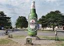 Heinekenreclame voor de lokale brouwerij in de Burundese hoofdstad Bujumbura.