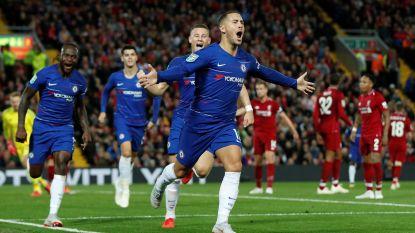VIDEO. Een weergaloze goal! Eden Hazard dribbelt en knalt Chelsea in slotfase voorbij Liverpool