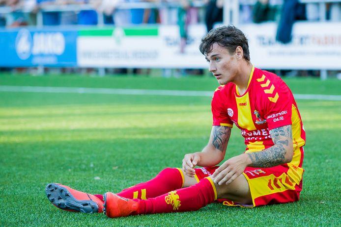 Adrian Edqvist tekende voor de 0-1 van Jong GA Eagles tegen Heracles.