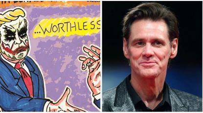 IN BEELD: Jim Carrey maakt griezelige schilderijen vol maatschappijkritiek