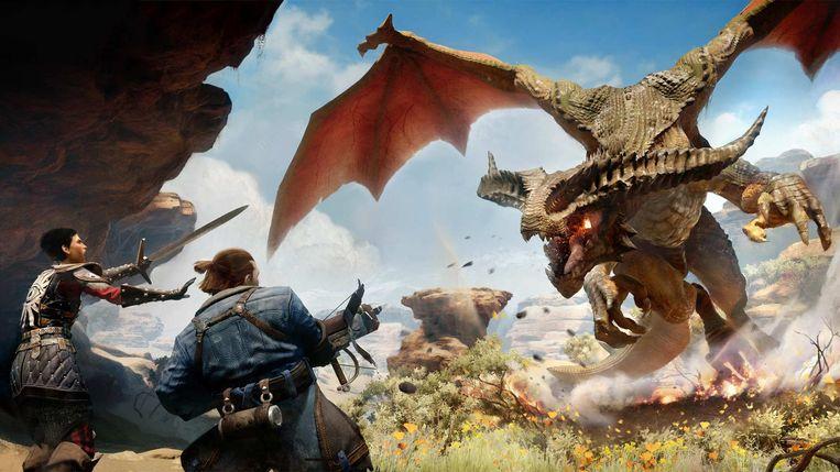 Géén 'friendly fire': een van de draken uit de nieuwe Dragon Age. Beeld BioWare