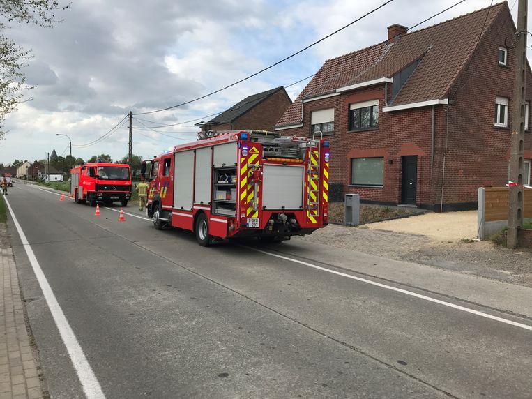 De brandweer kwam ter plaatse maar moest niet ingrijpen