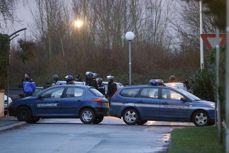 De Franse politie in Dammartin. Beeld afp
