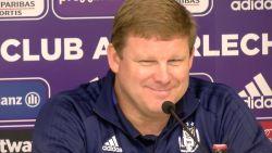 """Anderlechtcoach heerlijk ironisch: """"De crisis is vermeden"""""""