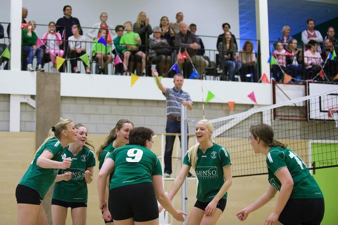 Het ging dit weekend niet goed voor de volleybalsters van Kwiek. Archieffoto Raphael Drent