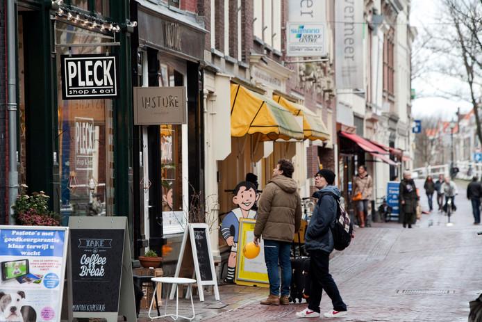 Winkels aan de Voldersgracht.