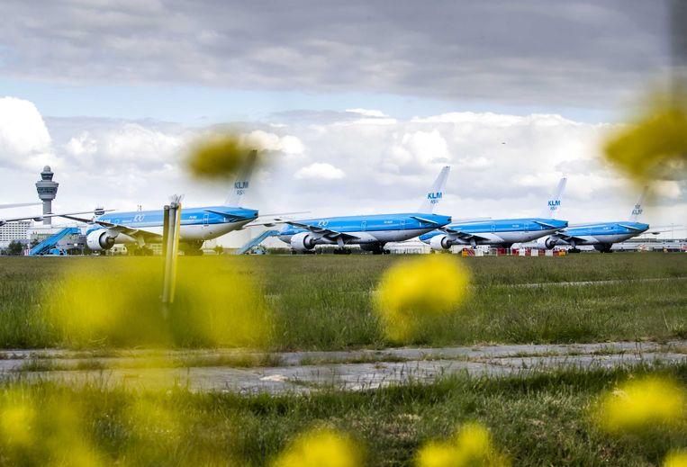 KLM toestellen stonden wekenlang aan de grond Beeld ANP