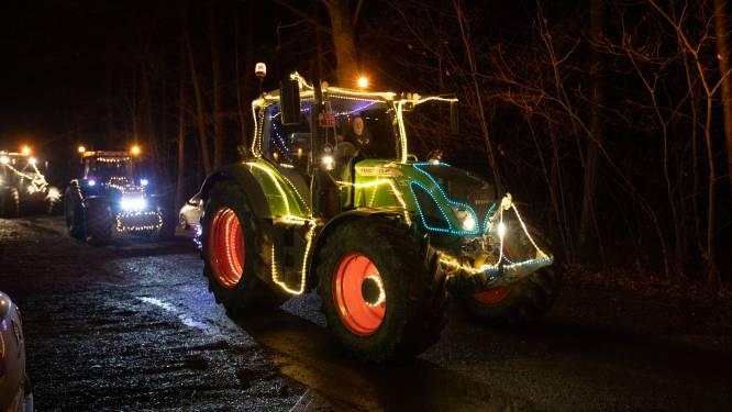 60 tractoren van Groene Kring Maaskant brengen licht en streekproducten langs bij zorgsector