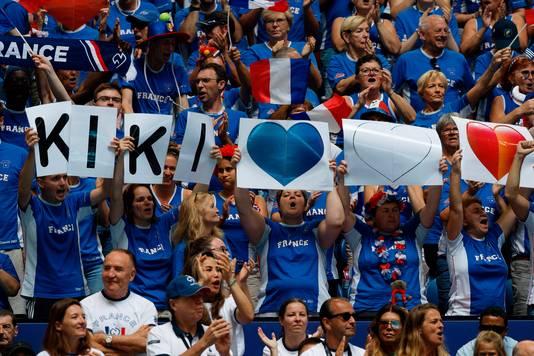 Franse support voor Kristina Mladenovic.