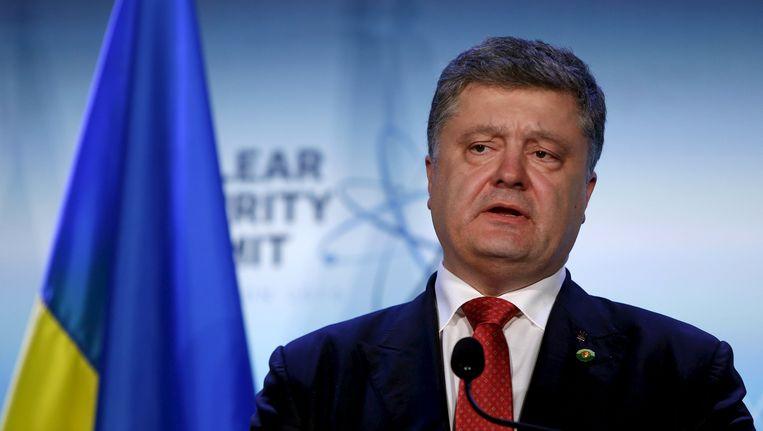 Petro Porosjenko, de president van Oekraïne Beeld reuters