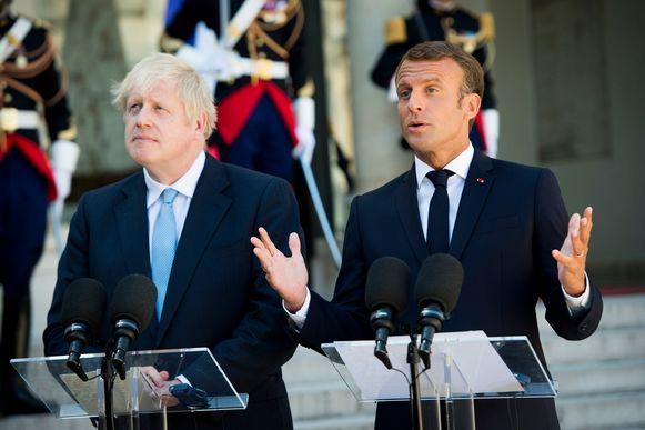 De Franse president schaarde zich achter de boodschap die de Duitse bondskanselier Angela Merkel gisteren overmaakte: het is aan het VK om een alternatieve oplossing te vinden voor het Ierse grensprobleem.