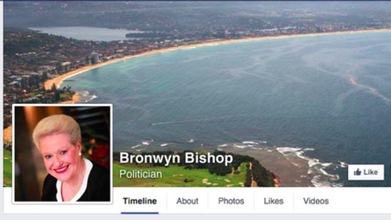 De bekritiseerde foto op de pagina van politicus Bronwyn Bishop Beeld screenshot Facebook