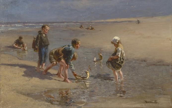 Het schilderij Scheepje Zeilen van B.J.. Blommers is een van de 'Edese' werken die te zien zijn in De Held.