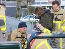Klem in een winkelwagen: brandweer rukt uit voor stuntende jeugd op skatebaan Harderwijk